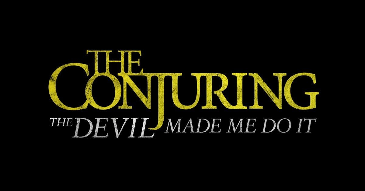 the conjuring the devil made me do it movie logo 2021
