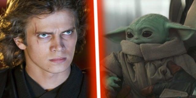 The Mandalorian Grogu Baby Yoda Anakin Vader Star Wars Revenge of the Sith