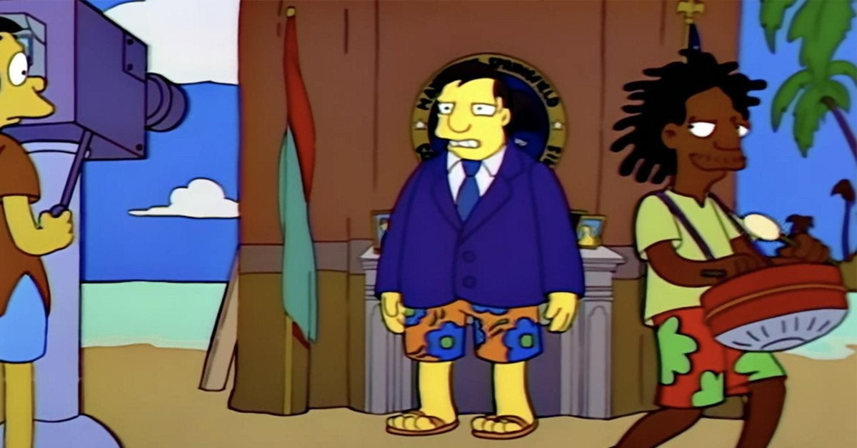 the simpsons marge in chains mayor quimby