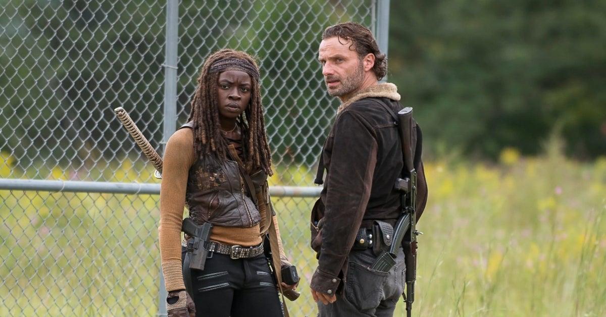 The Walking Dead Rick Michonne Andrew Lincoln Danai Gurira