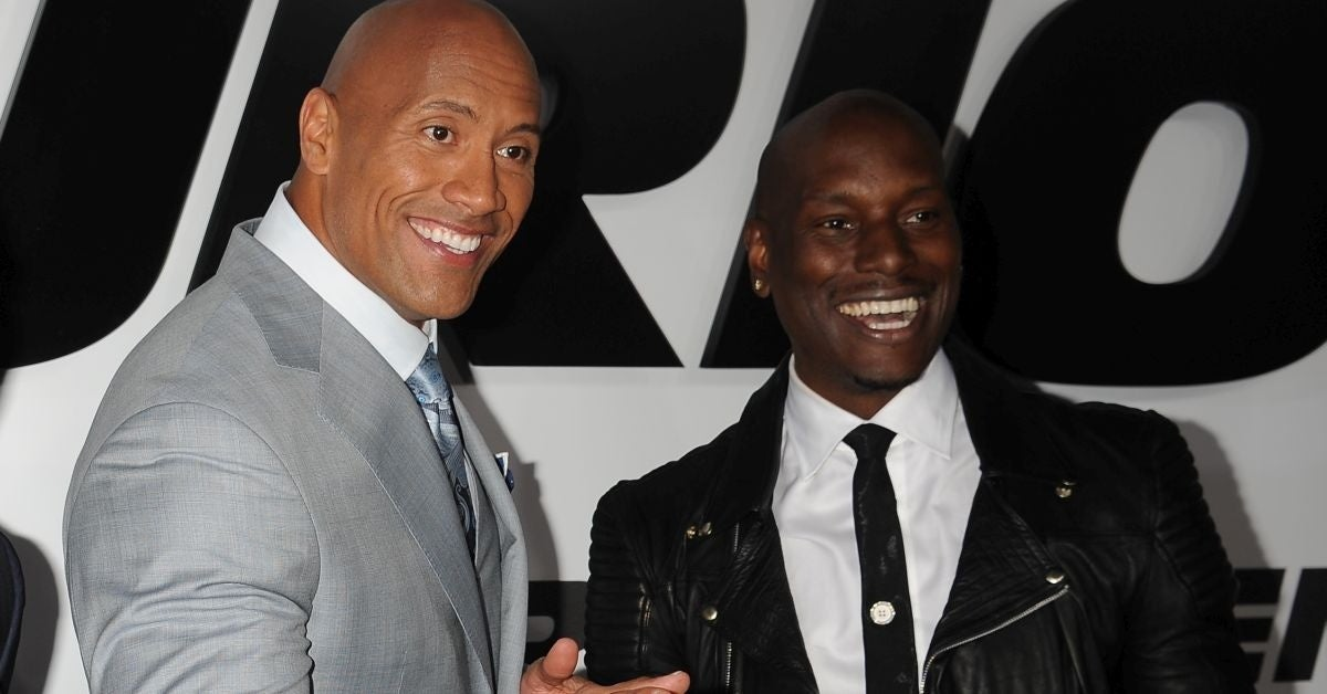 tyrese gibson dwayne johnson fast furious
