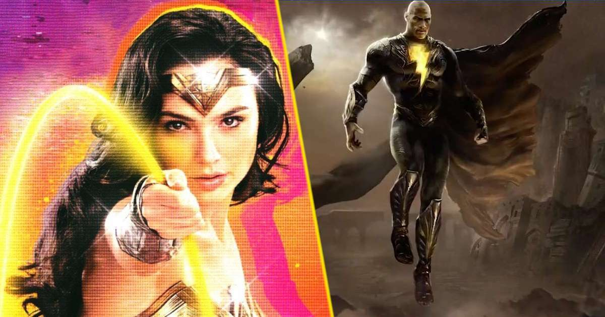 wonder woman 1984 gal gadot black adam dwayne johnson