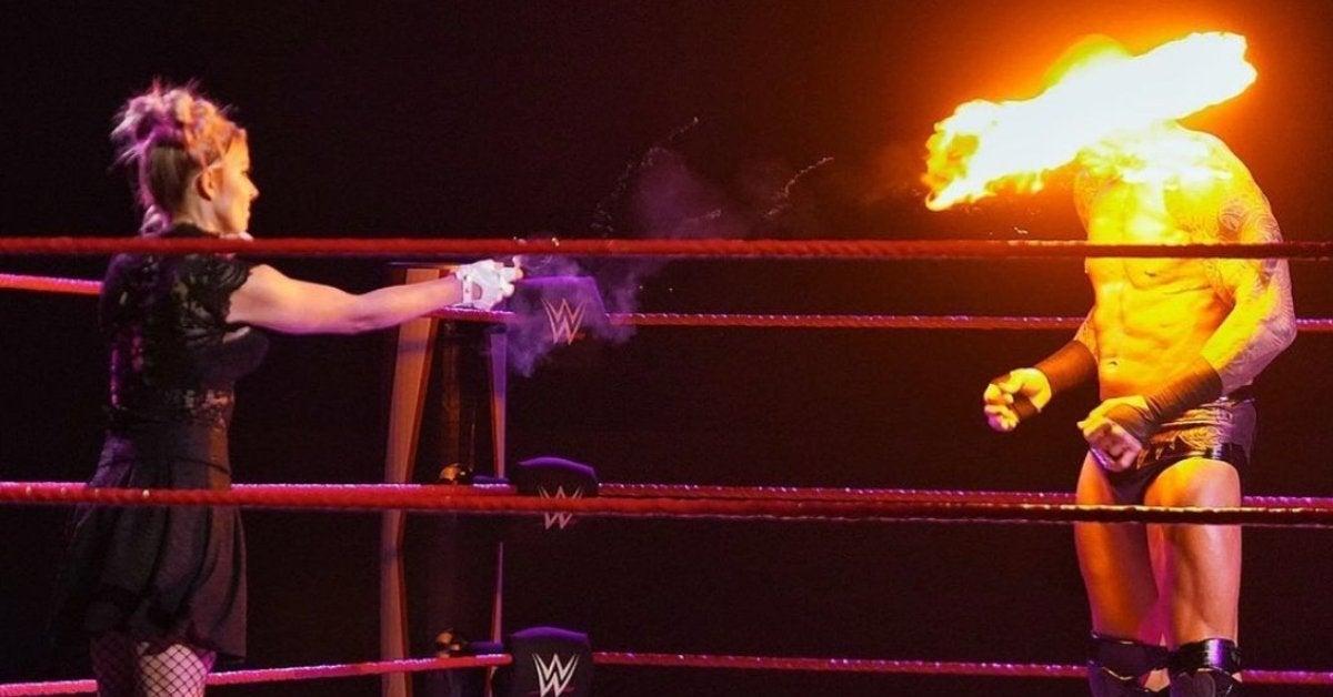 Alexa Bliss Fire Randy Orton Face WWE Raw