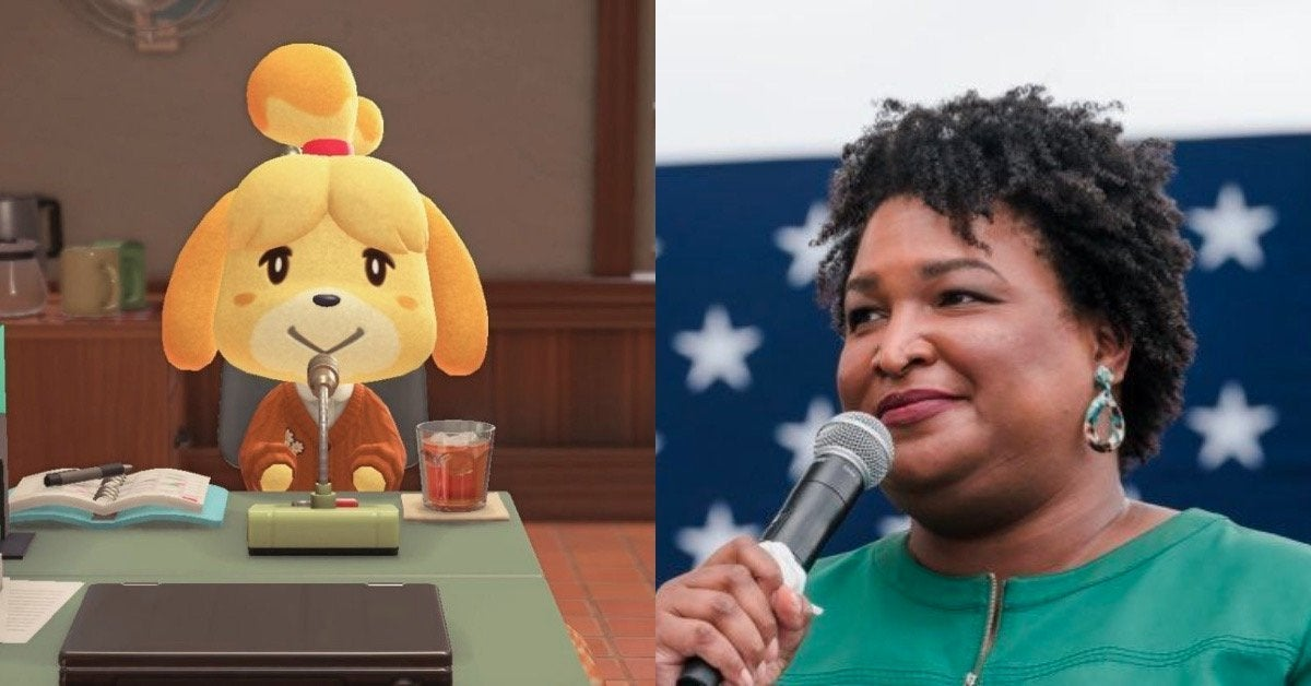 Animal Crossing Stacey Abrams