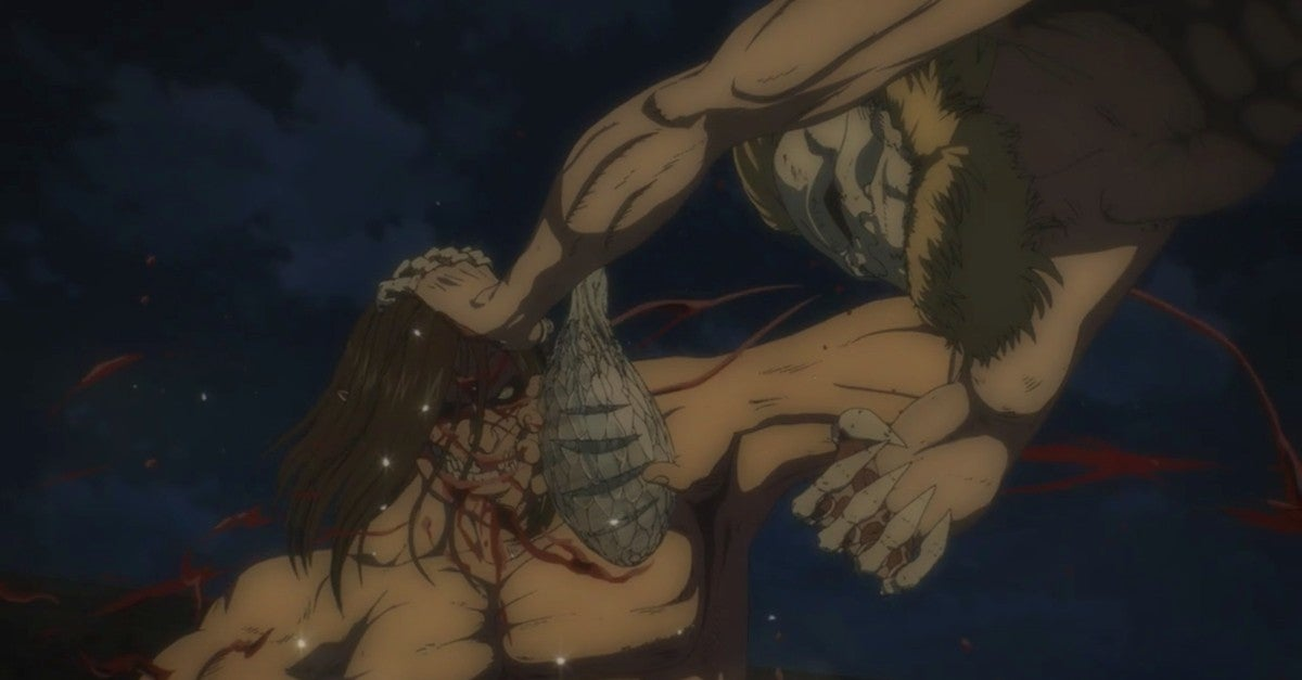 Attack On Titan Season 4 66 Spoilers War Hammer Jaw Colossal Armored Titan Fight