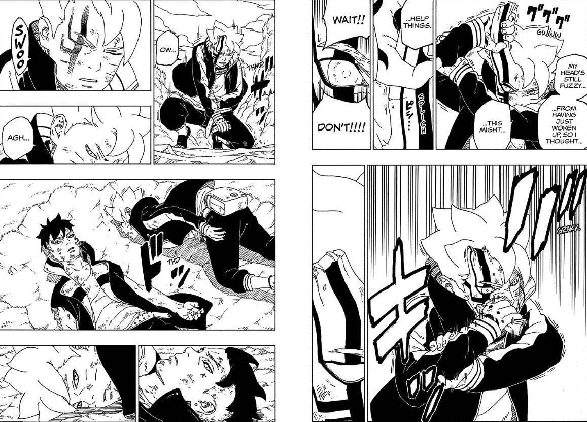 Boruto 54 Spoilers Kawaki Beats Momomshiki