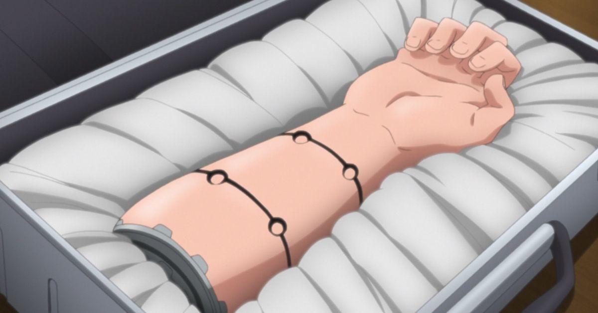 Boruto Naruto Prosthetic Arm Anime Vessel Arc Kawaki Tease