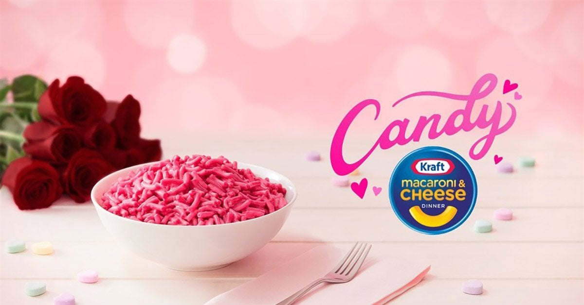 candy kraft mac and cheese