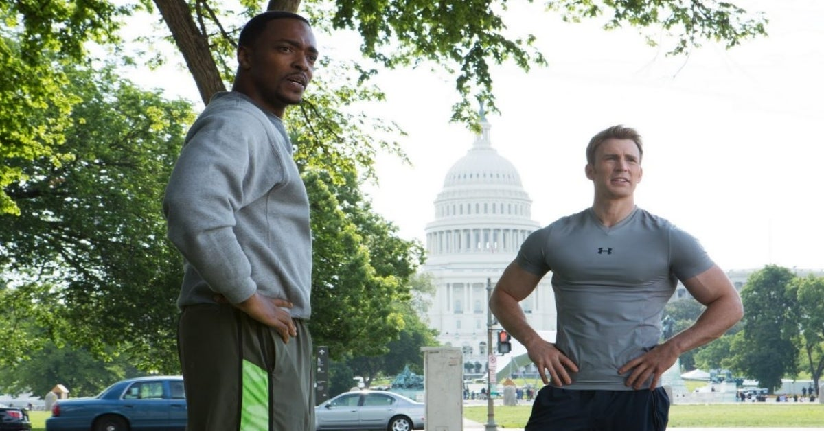 Chris Evans Anthony Mackie Captain America Winter Soldier