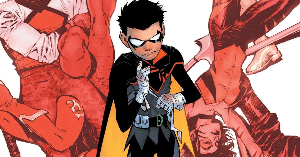 dc comics robin 1 cover header
