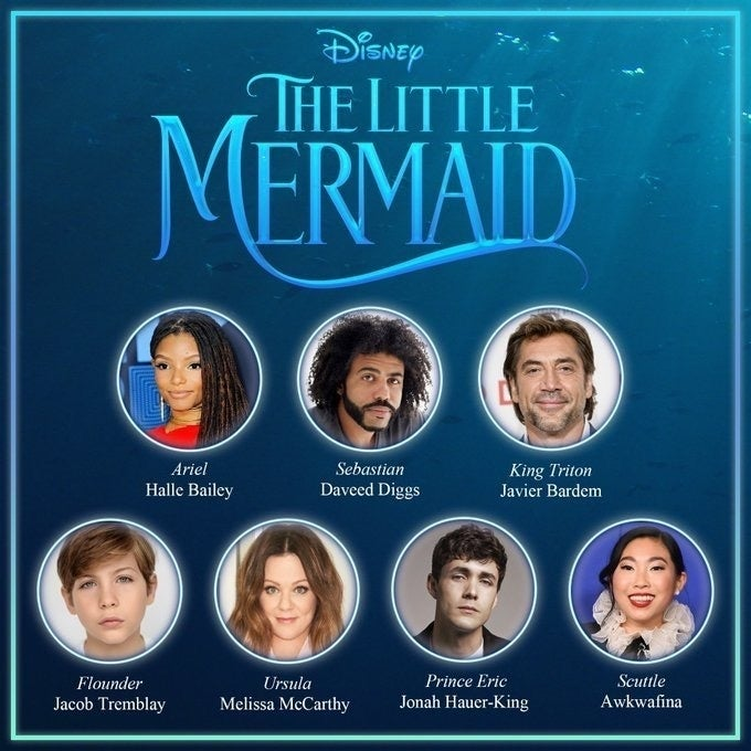Disney The Little Mermaid Live-Action cast