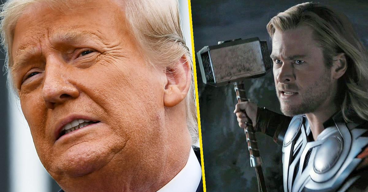 donald trump thor hammer