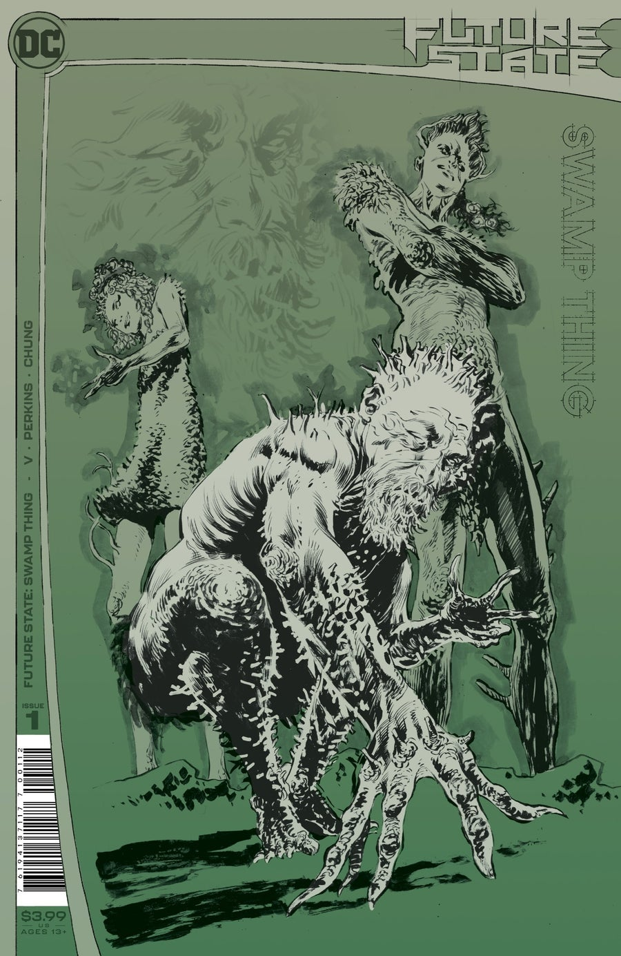 future state swamp thing 1 second printing cover