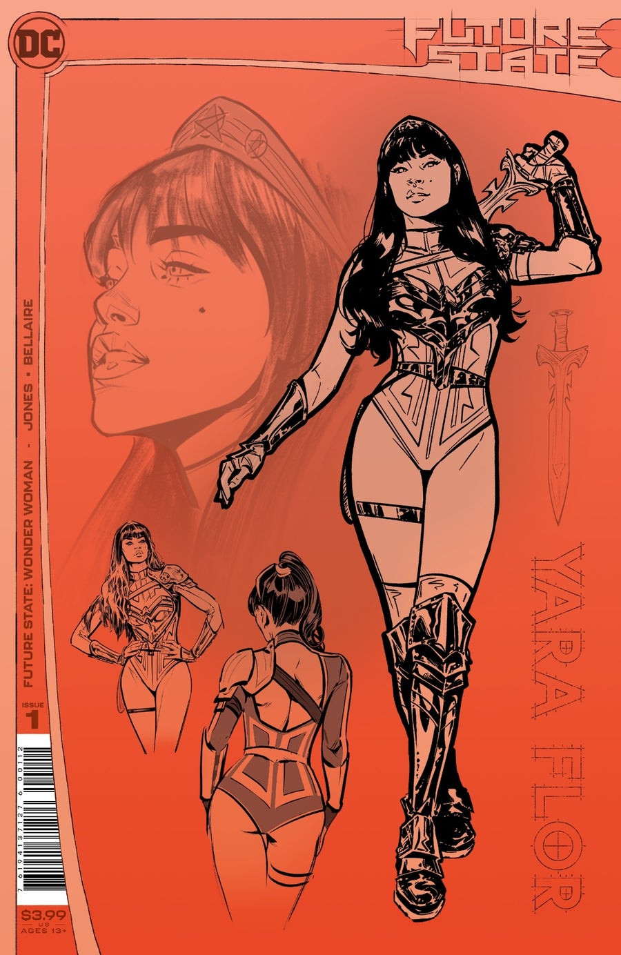 future state wonder woman 1 second printing cover