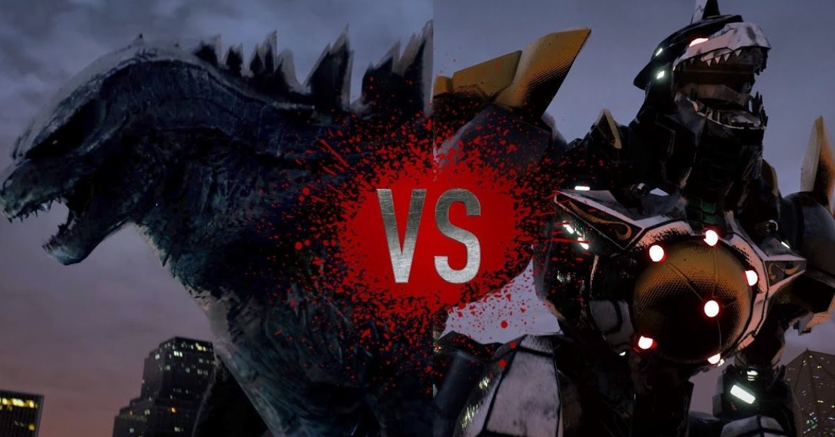 Godzilla Dragonzord Power Rangers Super Power Beat Down Bat in the Sun