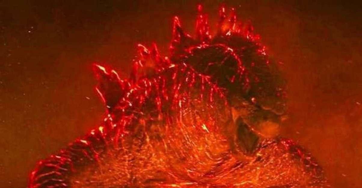 Godzilla Figure Burning