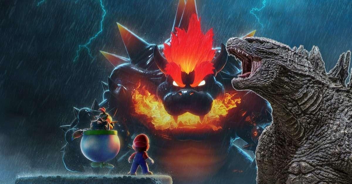 Godzilla Mario Bowser