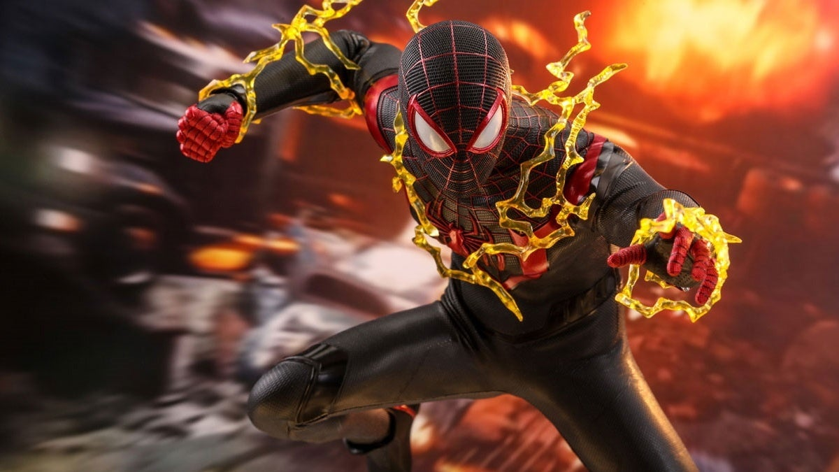hot toys spider man miles morales game new cropped hed