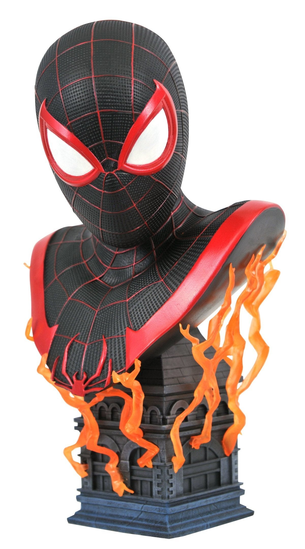 marvel spider man miles morales bust full