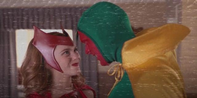 Marvel WandaVision classic costumes Elizabeth Olsen Paul Bettany