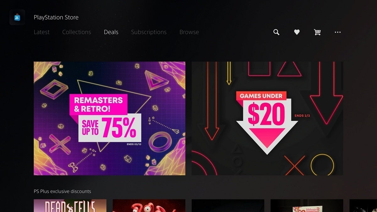 PlayStation 5 Store Update Deals