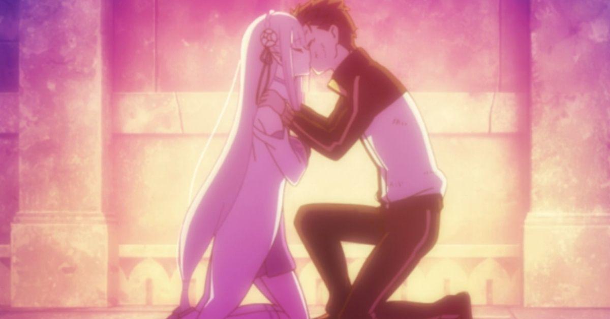 ReZero Subaru Emilia Kiss Season 2 Anime
