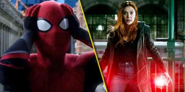 spider-man 3 wandavision scarlet witch elizabeth olsen