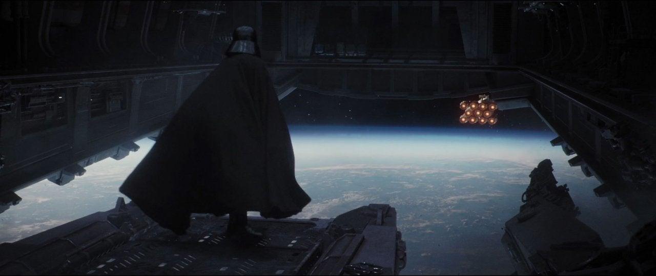 star wars rogue one darth vader ending ship