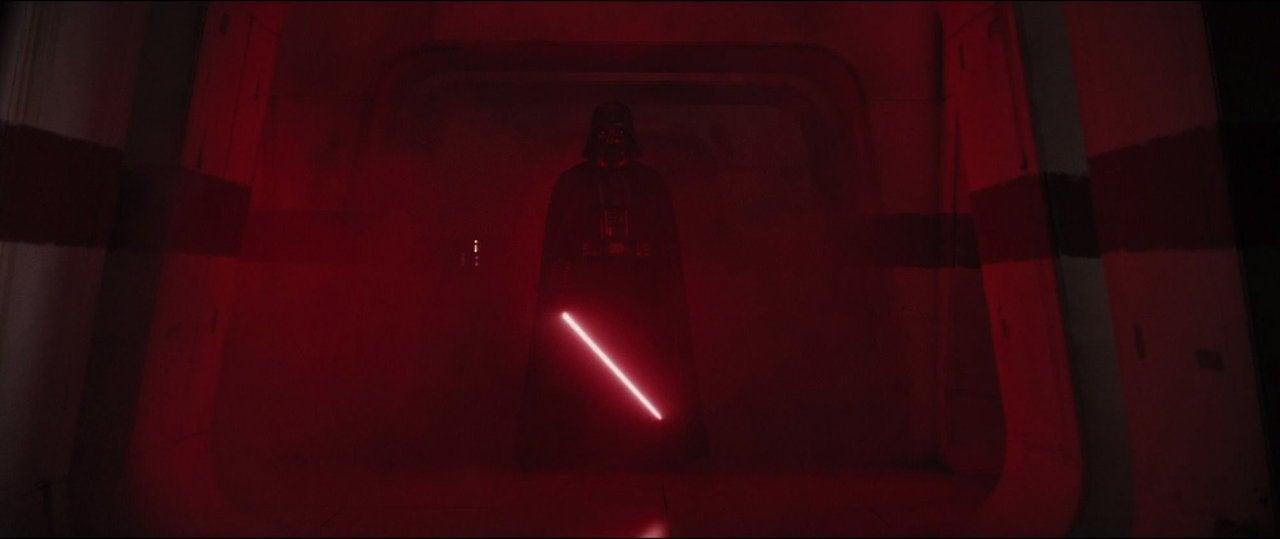 star wars rogue one darth vader scene