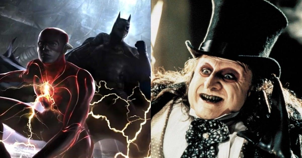The Flash Michael Keaton Batman Danny DeVito Penguin