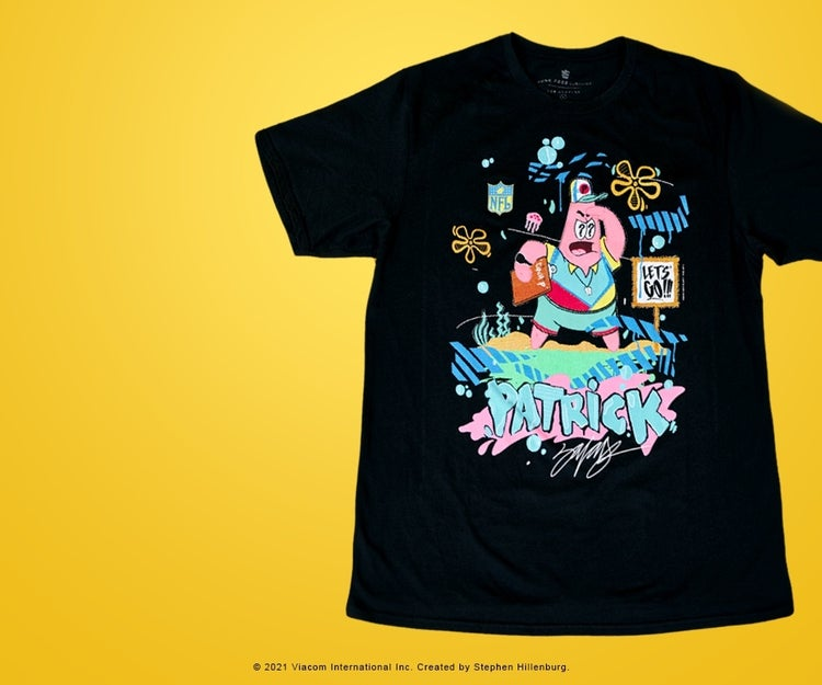 the NFL x SpongeBob SquarePants Junk Food Collection by King Saladeen - Patrick