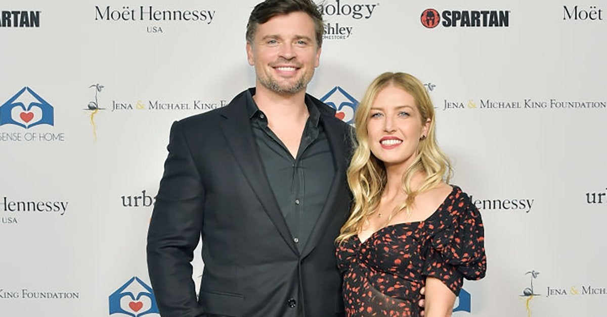 tom welling jessica rose welling getty images
