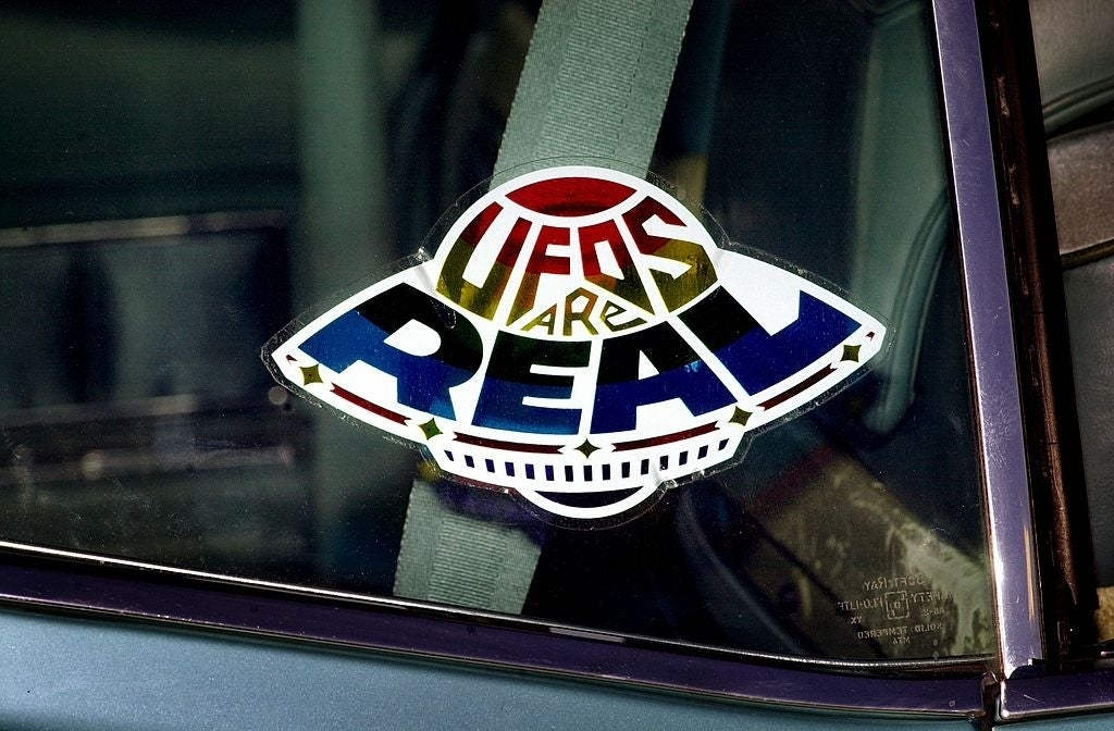 ufos are real sticker