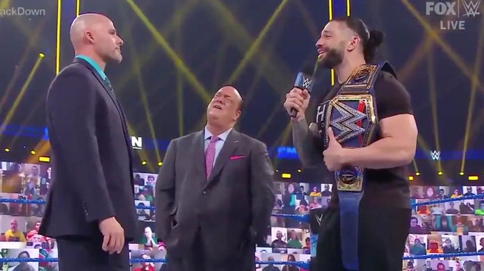 WWE-SmackDown-Roman-Reigns-Adam-Pearce-Paul-Heyman