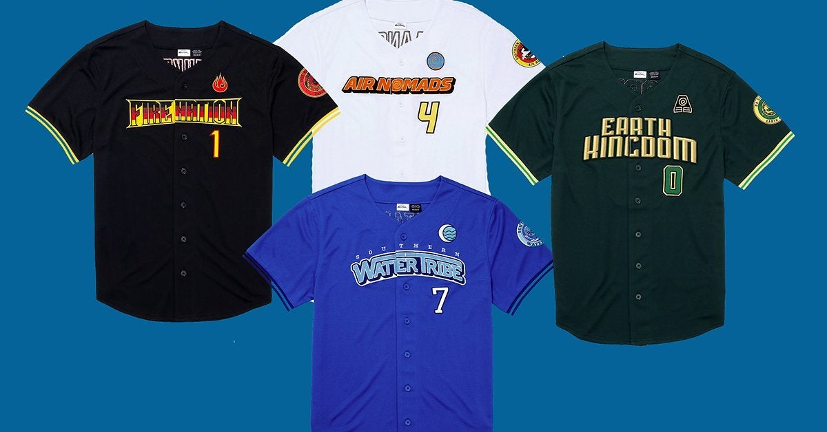 Avatar: The Last Airbender Launches a Baseball Jersey Collection