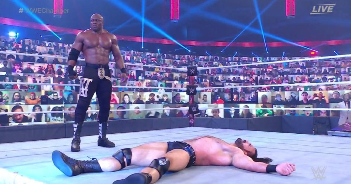 Bobby Lashley Drew McIntyre WWE Elimination Chamber