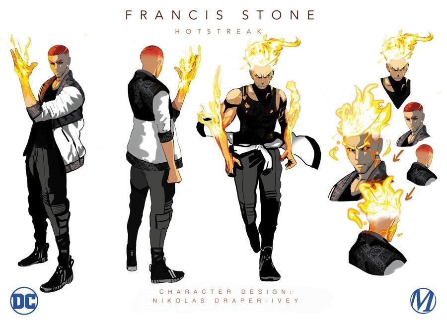 dc comics milestone hotstreak character design