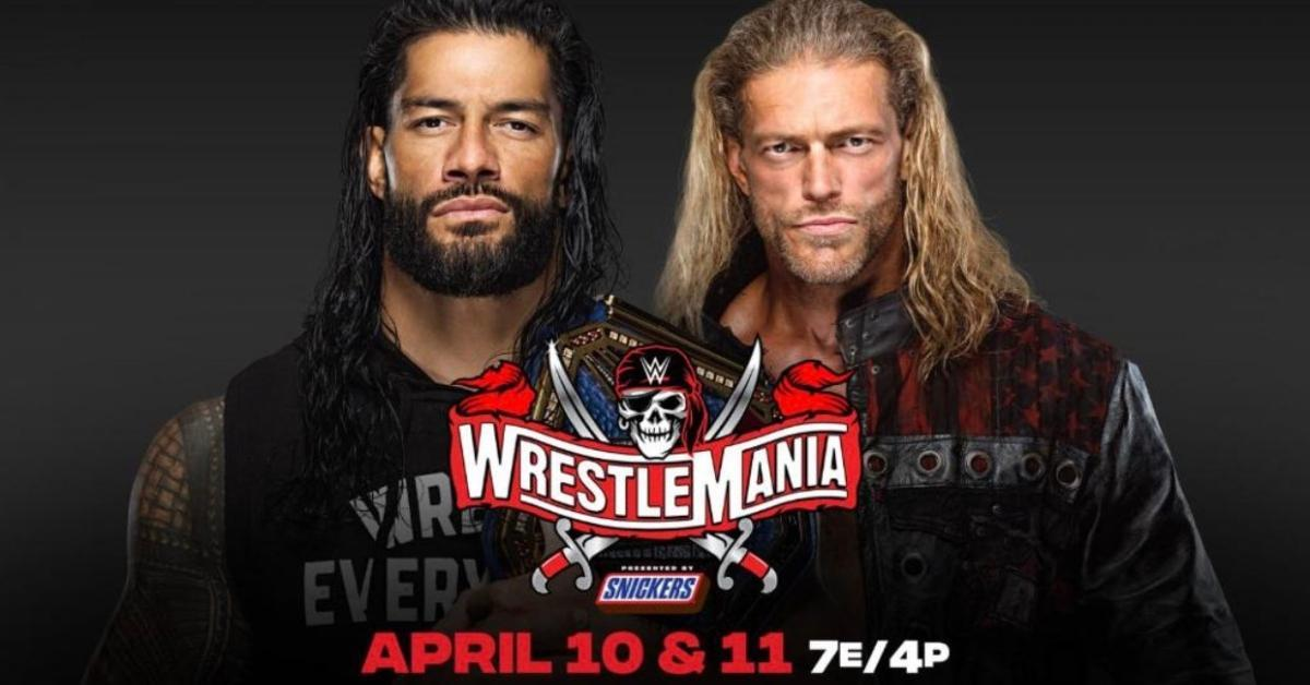 Edge Roman Reigns WWE Universal Championship Wrestlemania 37