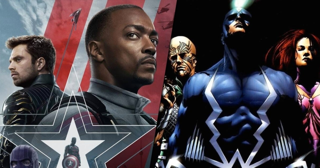 Image result for the falcon and the winter soldier and inhumans