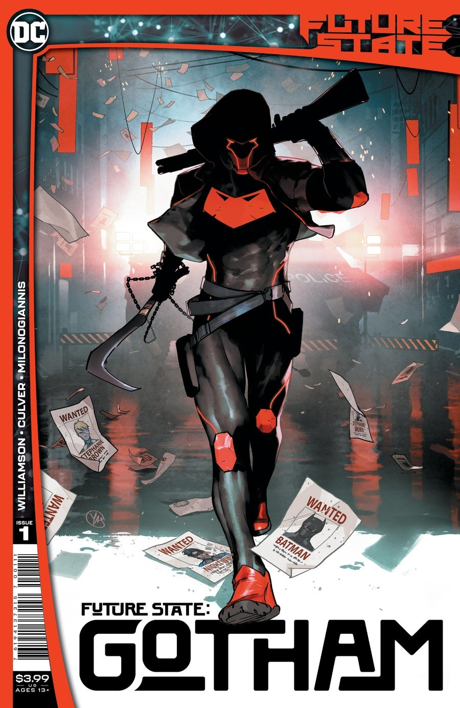 future state gotham red hood cover