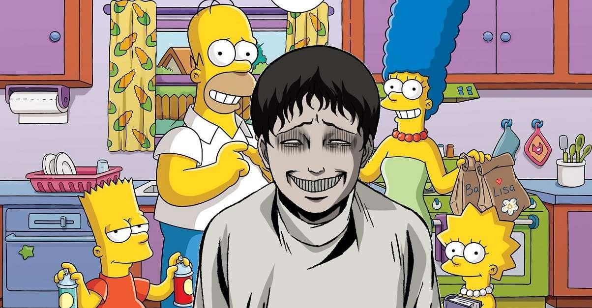 Junji Ito The Simpsons Crossover Art