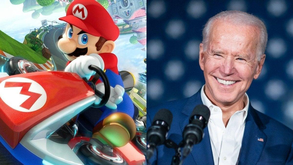 Mario Kart Joe Biden