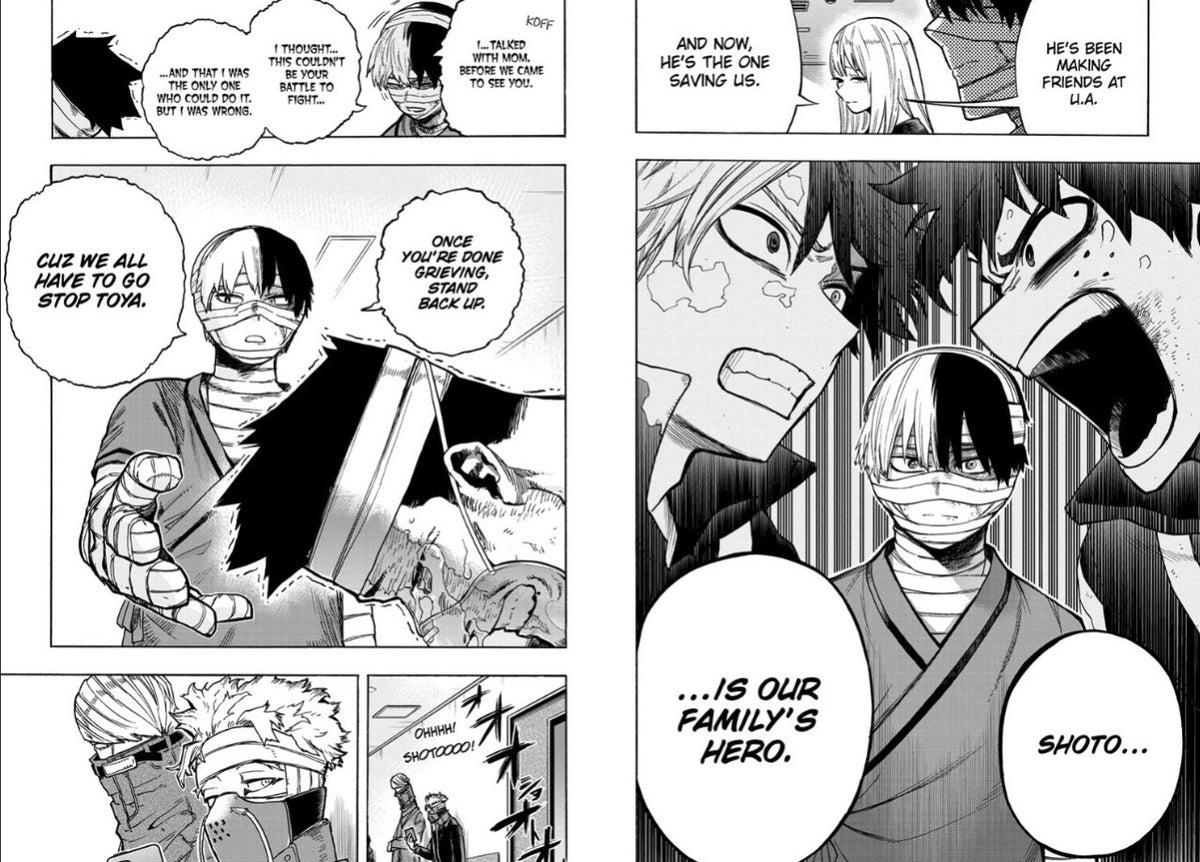 My Hero Academia 302 Spoilers Shoto and Endeavor Unite Fight Dabi