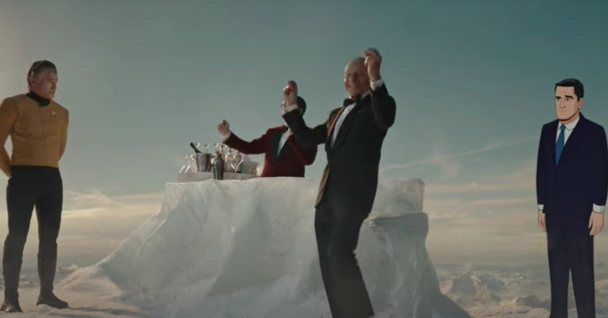 Patrick Stewart Dancing Paramount Plus Super Bowl Ad Commercial 2021