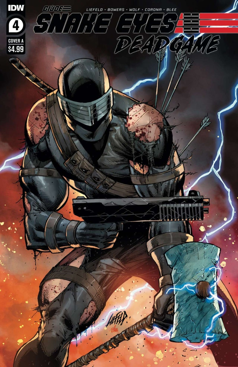 Snake Eyes Deadgame #4 - Cover A - Art by Rob Liefeld - Colors by Federico Blee