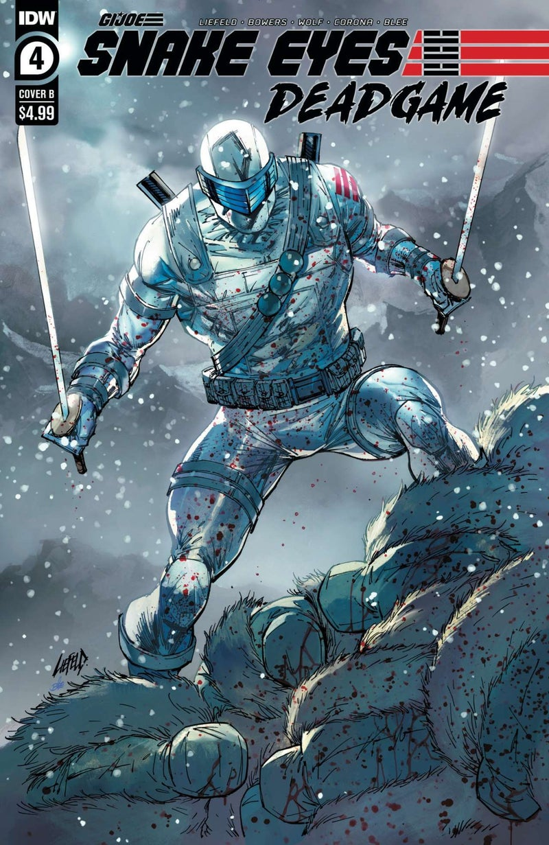 Snake Eyes Deadgame #4 - Cover B - Art by Rob Liefeld - Colors by Federico Blee