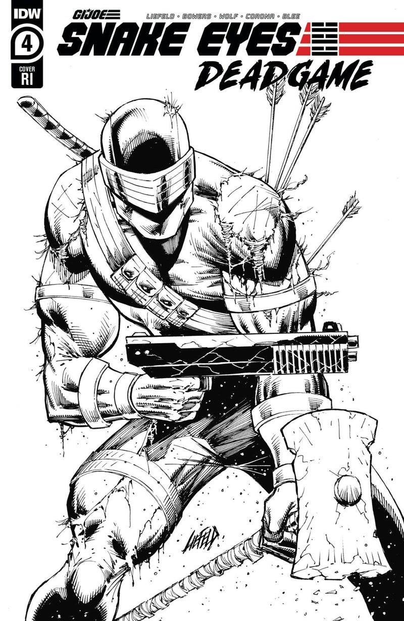 Snake Eyes Deadgame #4 - Retailer Incentive Cover - Art by Rob Liefeld