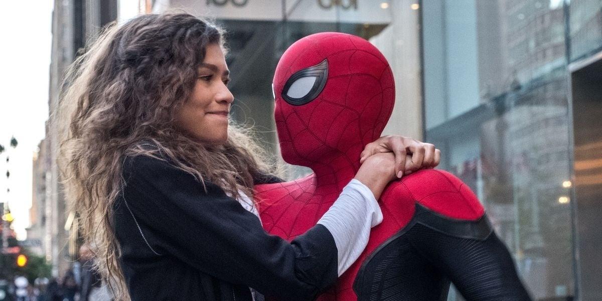 spider-man tom holland mj zendaya
