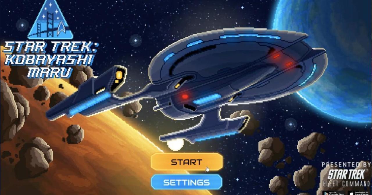 Star Trek's Kobayashi Maru Comes To Life in 8-Bit Browser Game