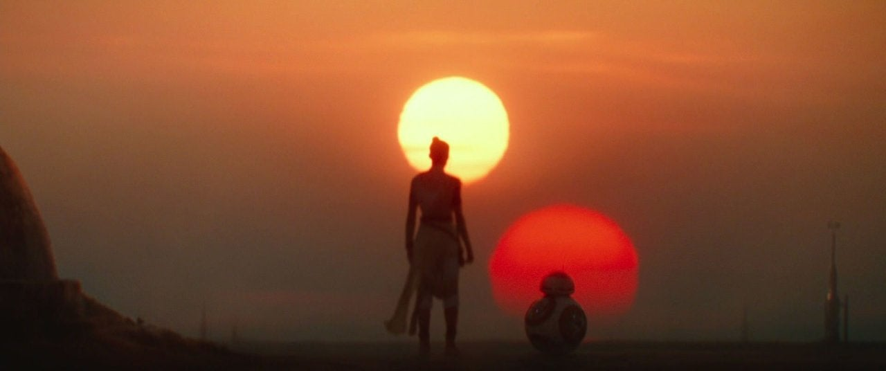 star wars the rise of skywalker rey sunset tatooine ending